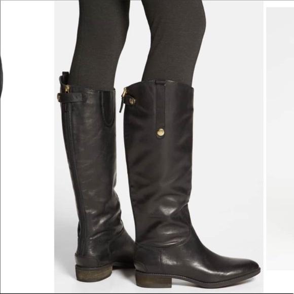 6210dd1326b85e NWOT Sam Edelman Penny Tall Black Riding Boots. M 5c5dc4955c44520f62321b00